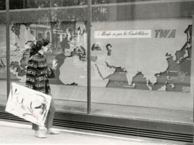 Soshana with painting   Paris 1956