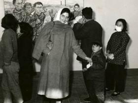 Soshana at her exhibition in China   Beijing 1957