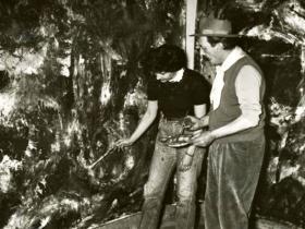 Soshana & Pinot Gallizio at work   Alba de Piemonte 1960