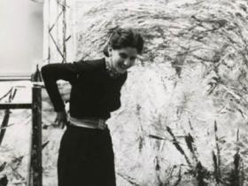 Soshana in her studio   Paris 1956
