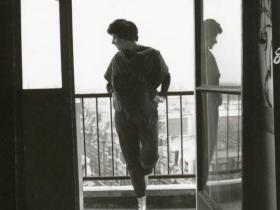 Soshana on the balcony of her appartment   Paris 1962