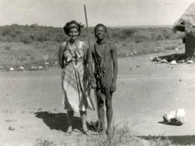 Soshana with tribal people   Africa 1959