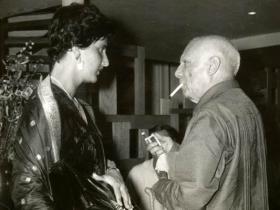 Soshana & PicassoAntibes   1962